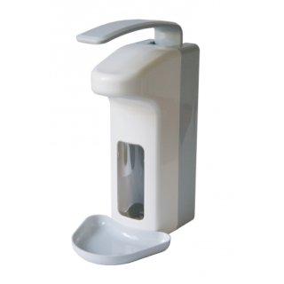 CleanSV Desinfektionmittelspender Seifenspender LH 1000ml  Kunststoff mit Leerflasche und Abtropfschale