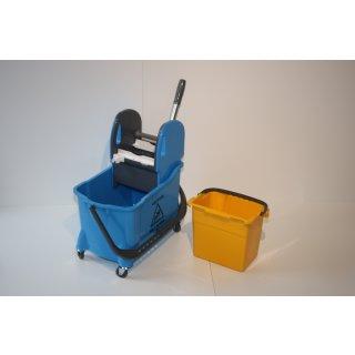 CleanSV Vera blue Kunststoff Eineimer Wischwagen