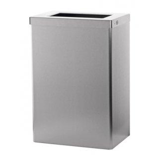 CleanSV SanTRAL Abfallbehälter offen 50 Liter Edelstahl
