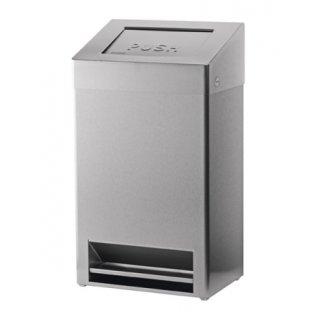 CleanSV SanTRAL Abfallbehälter geschlossen mit Fußbedienung 40 Liter Edelstahl