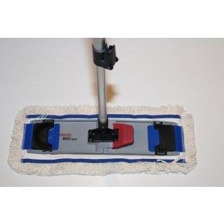 CleanSV® Lamo Sprintus Set Laschenmop 40 cm, Magic Vario Mophalter für Laschenmop, 1 CleanSV®  Baumwoll Laschenmop und Teleskopstiehl -- PUTZEN OHNE SICH ZU BÜCKEN -- Mophalter steht frei im Raum