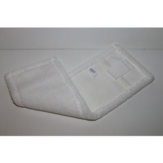CleanSV® Laschenmop Mikrofaser 40 cm weiß mit Lasche und Tasche