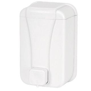 CleanSV® Seifenspender Desinfektionsspender Cleany 500 ml weiss, aus Kunststoff für flüssig Seife und Desinfektion