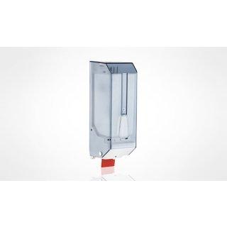 CleanSV® Seifenspender Cleany 1200 ml blau transparent, aus Kunststoff für flüssig Seife und Desinfektion, Wandmontage