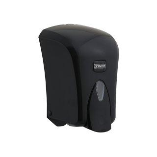 CleanSV® Desinfektionsspender Via Cleany 1000 ml Schwarz, aus Kunststoff für Desinfektionmittel und Seife