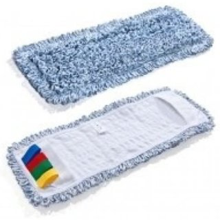CleanSV Mikrofasermop Baumwollmop Profimop Duo Clean 50 cm blau meliert für alle 50 cm Klapphalter