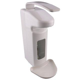 CleanSV Profi Desinfektionsmittelspender DUO Seifenspender 500 ml und 1000 ml  Kunststoff mit Leerflasche und Abtropfschale, Mengenabgabe einstellbar, Pumpe austauschbar