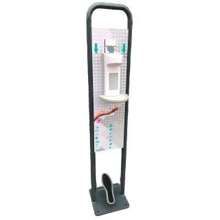 CleanSV Desinfektionsstation mit Fusspedal Bedienung Inclusive Desinfektionsspender 500 ml und Tropfschale