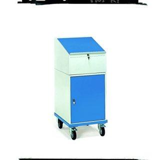 CleanSV Rollpult 150 kg, mit Schrank und Schreibpult-Aufsatz