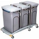CleanSV® Dreifacher Müllentsorgungswagen 3 x...